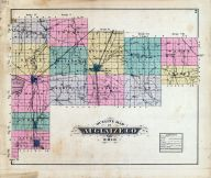 Auglaize County Outline Map, Auglaize County 1880