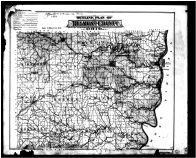 Belmont County Outline Map, Belmont County 1888