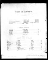 Table of Contents, Belmont County 1888