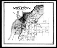 Middletown Ward Map, Butler County 1888