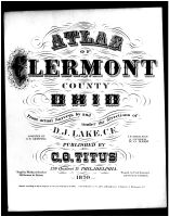 Title Page, Clermont County 1870