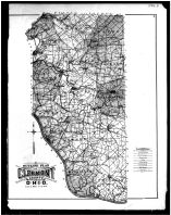 Clermont County Outline Map, Clermont County 1891