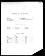 Table of Contents, Clermont County 1891