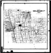 Delaware County Outline Map, Delaware County 1866