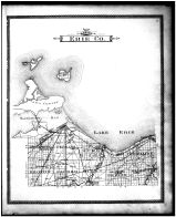 Erie County Outline Map, Erie County 1896