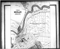 Milan, Enterprise, Bloomingville, West Milan - Above, Erie County 1896