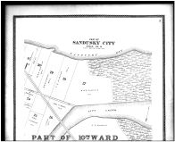 Sandusky City, 10th Ward - Above, Erie County 1896