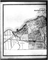 Sandusky City Outline Map - Left, Erie County 1896