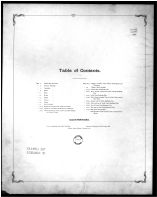 Table of Contents, Erie County 1896