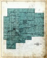 Guernsey County Outline Map, Guernsey County 1914