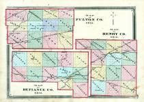 Henry County, Fulton County, Defiance County Maps, Henry County 1875