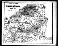 Highland County Outline Map, Highland County 1871