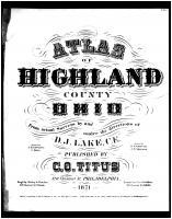 Title Page, Highland County 1871