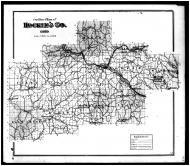 Hocking County Outline Map, Hocking County 1876 Microfilm