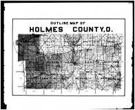 Holmes County Outline Map, Holmes County 1907