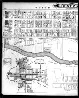Mount Vernon, 1st Ward, Outline Map - Mount Vernon, Lockville - Left, Knox County 1896