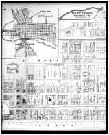 Mount Vernon, 3rd Ward, Outline Map - Mount Vernon, Waterford, Batemantown - Left, Knox County 1896
