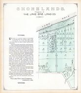 Shorelands - Property of The Lake Erie Land Co., Lake County 1898