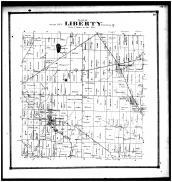 Liberty Township, Brooks Cors., Newway P.O., Concord, Licking County 1866