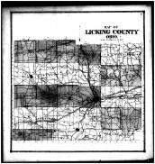 Licking County Outline Map, Licking County 1866