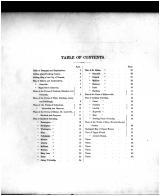 Table of Contents, Licking County 1866