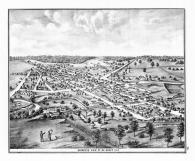Bird's Eye View of De Graff, Logan County 1875