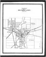 Elyria City Outline Map, Lorain County 1896 Microfilm