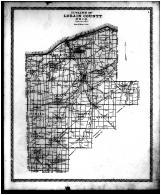 Lorain County Outline Map, Lorain County 1896 Microfilm