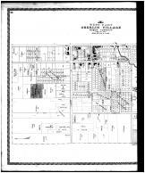 Oberlin Village - West, West View, Oberlin Village Outline Map - Left, Lorain County 1896 Microfilm