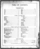 Table of Contents, Lorain County 1896 Microfilm