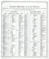 Directory 001, Lucas County and Part of Wood County 1875 Including Toledo