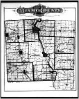 Miami County Outline Map, Miami County 1875