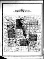 Miami County Outline Map, Miami County 1894