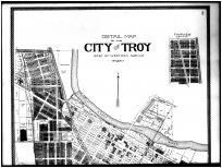 Troy City - East, Fairview - Above, Miami County 1894
