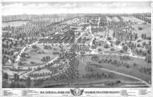 Bird's Eye View Dayton Nathional Home for Disabled Volunteer Soldiers, Montgomery County 1875