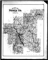 Noble County Outline Map, Noble County 1879