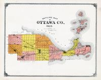 Ottawa County Outline Map, Ottawa County 1900
