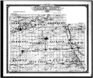 Paulding County Outline Map, Paulding County 1917