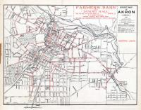 Akron - Street Map - Electric Lights, Summit County 1891