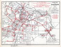 Akron - Street Map - Fire Lines, Summit County 1891