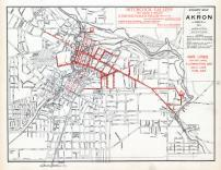 Akron - Street Map - Gas Lines, Summit County 1891