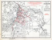 Akron - Street Map - Sewers Constructed, Summit County 1891