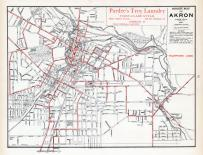 Akron - Street Map - Telephone Lines, Summit County 1891