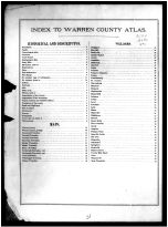 Index, Warren County 1891