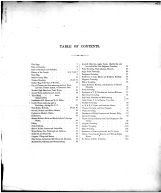 Table of Contents, Wayne County and Wooster City 1873