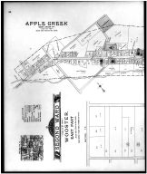 Wooster East, 2nd Ward, Golden Corners, Apple Creek - Above, Wayne County 1908