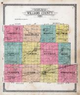 Williams County Outline Map, Williams County 1918