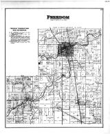 Freedom Township, Pemberville, New Rochester P.O., Woodside, Bruningsville Station, Wood County 1886