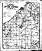 Wood County Outline Map, Wood County 1886