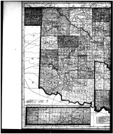 Indian Territory and Oklahoma Map - Left, Garfield County 1906